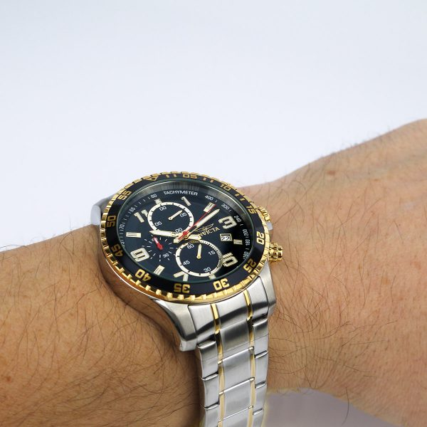 Invicta 14876 Specialty Chronograph 18k Gold Ion-Plated and Stainless Steel Watch_08