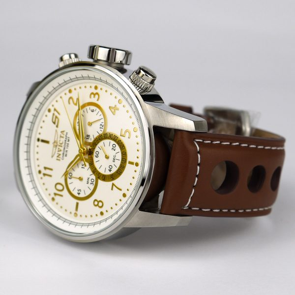 Invicta 16010 S1 Rally Stainless Steel Watch with Brown Leather Band_03