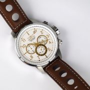 Invicta 16010 S1 Rally Stainless Steel Watch with Brown Leather Band_08