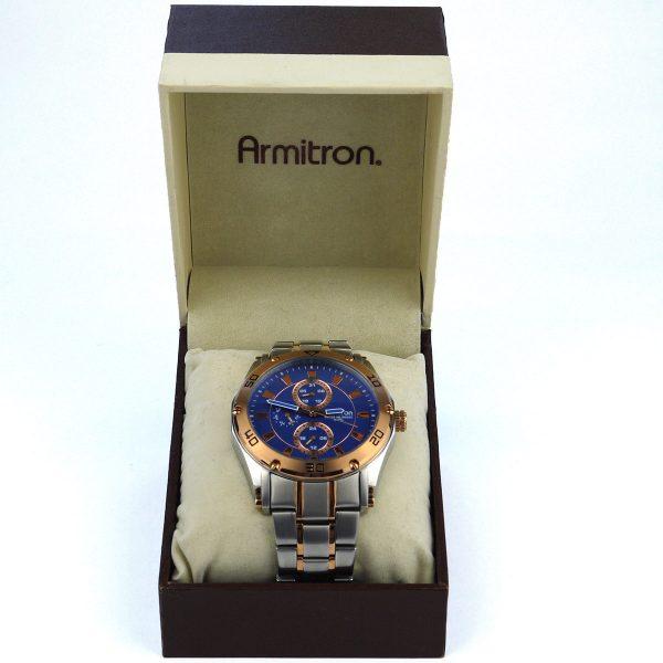 Armitron Men's 20-4957BLTR Multi-Function Blue Dial Two-Tone Bracelet Watch_02