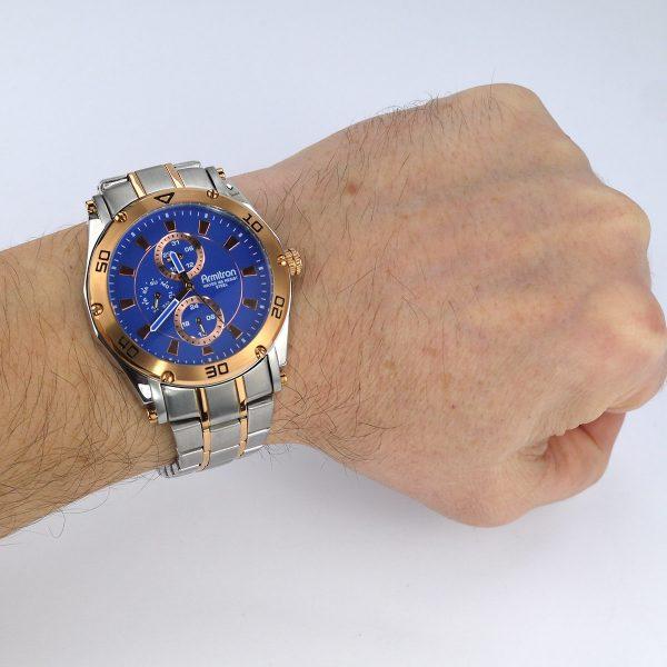Armitron Men's 20-4957BLTR Multi-Function Blue Dial Two-Tone Bracelet Watch_07