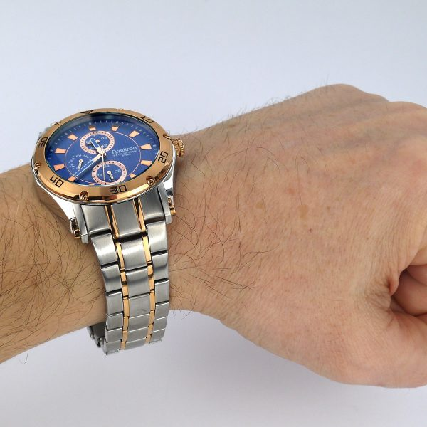 Armitron Men's 20-4957BLTR Multi-Function Blue Dial Two-Tone Bracelet Watch_08
