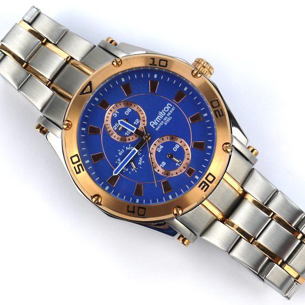 Armitron Men's 20-4957BLTR Multi-Function Blue Dial Two-Tone Bracelet Watch