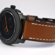 Fossil Mens FS5234 Machine Chronograph Luggage Leather Watch_04