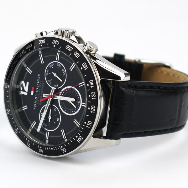 Tommy Hilfiger 1791117 Sophisticated Sport Watch With Black Leather Band_06