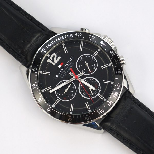 Tommy Hilfiger 1791117 Sophisticated Sport Watch With Black Leather Band_07