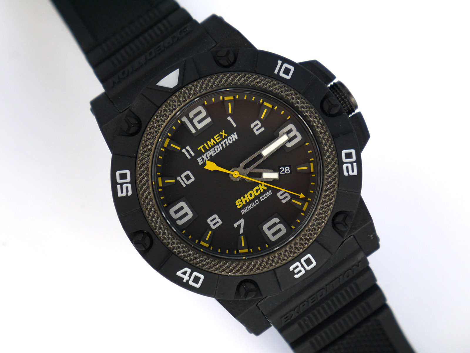 Timex Tw4b01000 Expedition Field Shock Black Resin Strap