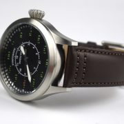 Invicta 22973 'Aviator' Quartz Stainless Steel and Leather Casual Watch_02