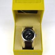 Invicta 22973 'Aviator' Quartz Stainless Steel and Leather Casual Watch