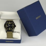 Seiko SNE331 Solar Analog Japanese quartz Beige Watch_06
