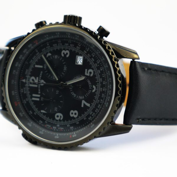 Swiss Legend Men's 30721-BB-01 Skyline Analog Display Swiss Quartz Black Watch