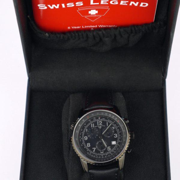 Swiss Legend Men's 30721-BB-01 Skyline Analog Display Swiss Quartz Black Watch_02