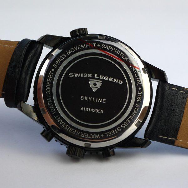 Swiss Legend Men's 30721-BB-01 Skyline Analog Display Swiss Quartz Black Watch_05