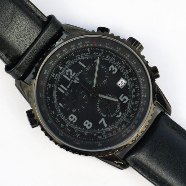 Swiss Legend Men's 30721-BB-01 Skyline Analog Display Swiss Quartz Black Watch_07