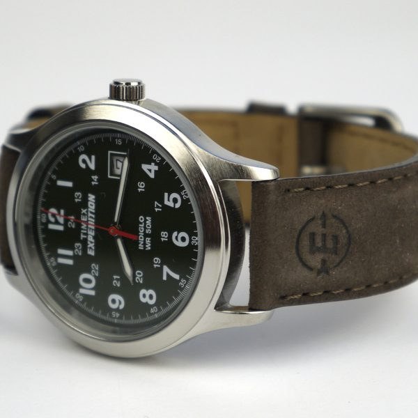 Timex T40051 Expedition Metal Field Olive Dial Brown Leather Strap Watch_02