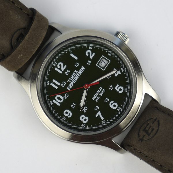 Timex T40051 Expedition Metal Field Olive Dial Brown Leather Strap Watch_07