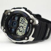 Casio AE2000W-1AV Silver-Tone and Black Multi-Functional Digital Sport Watch