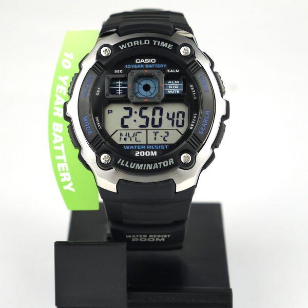 Casio AE2000W-1AV Silver-Tone and Black Multi-Functional Digital Sport Watch_02