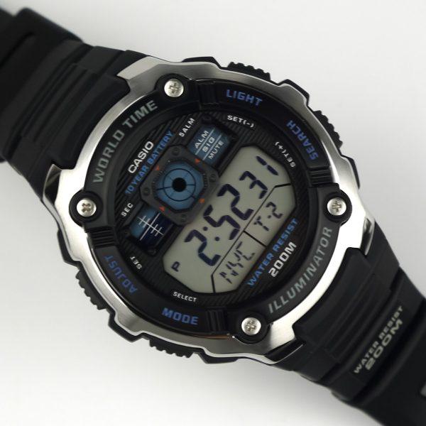 Casio AE2000W-1AV Silver-Tone and Black Multi-Functional Digital Sport Watch_06
