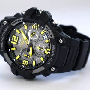 Casio MCW-100H-9AV Heavy Duty-Design Chronograph Black Yellow Watch