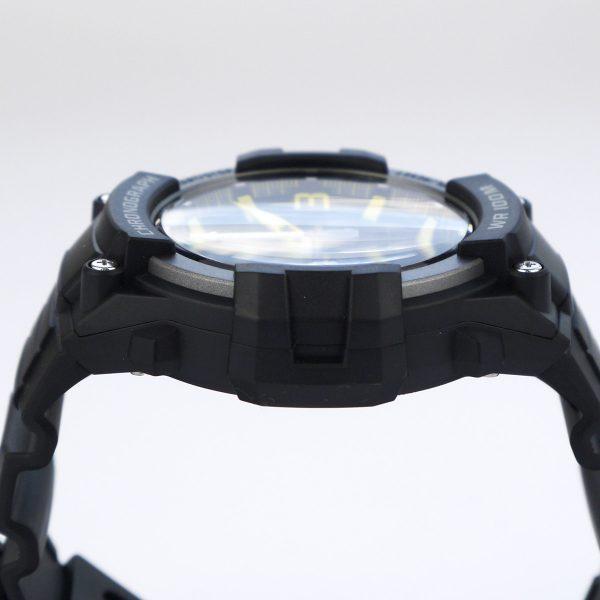 Casio MCW-100H-9AV Heavy Duty-Design Chronograph Black Yellow Watch_05