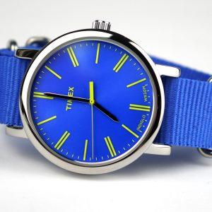 Timex Originals T2P362 Ladies Original Blue Nylon Strap Watch
