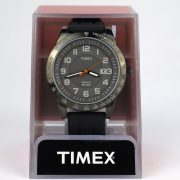 Timex T2N919 Elevated Classics Gunmetal-Tone Watch with Black Resin Band_02
