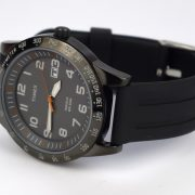 Timex T2N919 Elevated Classics Gunmetal-Tone Watch with Black Resin Band_03