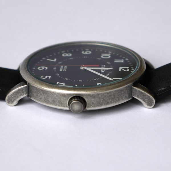 Timex T2P219AB Originals Silver-Tone Watch with Black Leather Band_06