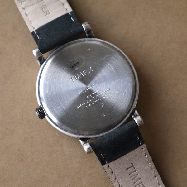 Timex T2P219AB Originals Silver-Tone Watch with Black Leather Band_11