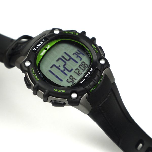 Timex TW5M03400 Ironman Classic 100 Full-Size Black Green Resin Strap Watch_05