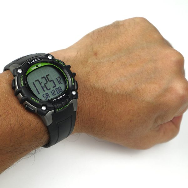 Timex TW5M03400 Ironman Classic 100 Full-Size Black Green Resin Strap Watch_07