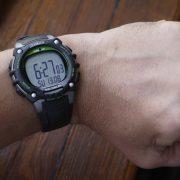 Timex TW5M03400 Ironman Classic 100 Full-Size Black Green Resin Strap Watch