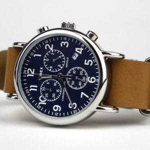 Timex Tw2P62300 Weekender Chronograph 40mm Case Slip-Thru Strap Watch
