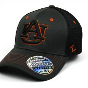 Cap Z NCAA Auburn Tigers Ultra Flex Hat, Charcoal-Black