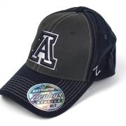 Cap Z NCAA Arizona Wildcats Powerhouse Z-Fit Charcoal-Navy