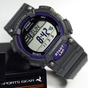 Casio STL-S100H-8AVCF Digital Solar-Powered Gray Watch with Gray Resin Band