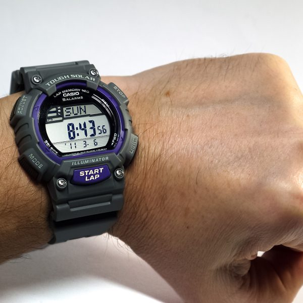 Casio STL-S100H-8AVCF Digital Solar-Powered Gray Watch with Gray Resin Band_06