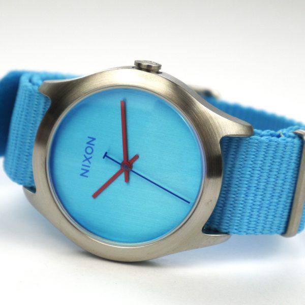 Nixon A348606 Mod Bright Blue Dial Bright Blue Nylon Ladies Watch