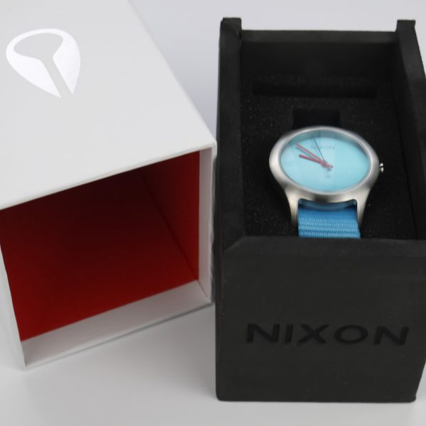 Nixon A348606 Mod Bright Blue Dial Bright Blue Nylon Ladies Watch_02