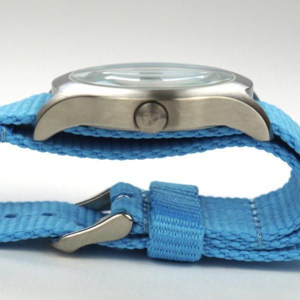 Nixon A348606 Mod Bright Blue Dial Bright Blue Nylon Ladies Watch_04