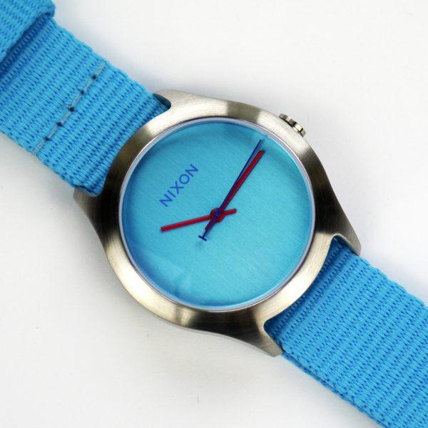 Nixon A348606 Mod Bright Blue Dial Bright Blue Nylon Ladies Watch_06