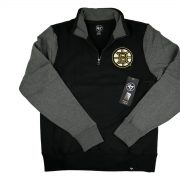 47 Brand_NHL Boston Bruins Triple Coverage 1-4-Zip Pullover Fleece