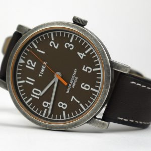 Timex TWH3Z1810 Originals Brown-Antique Brass Leather Strap Watch