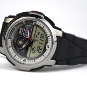 Casio AQF-102W-7BV Outgear Thermometer World Time 50 Lap Memory Watch