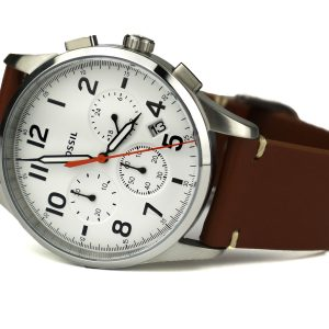 Fossil FS5360 'Vintage 54 Chrono Timer' Quartz Stainless Steel and Leather Casual Watch