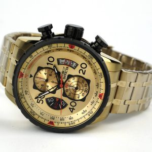 Invicta 17205 AVIATOR 18k Gold Ion-Plated Watch