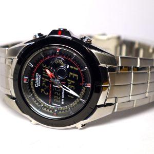 Casio Edifice EFA119BK-1AV Ana-Digi Stainless Steel Watch