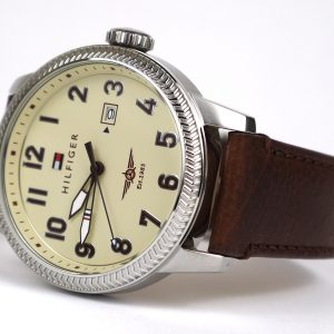 Tommy Hilfiger 1791315 Quartz Stainless Steel and Brown Leather Band Casual Watch