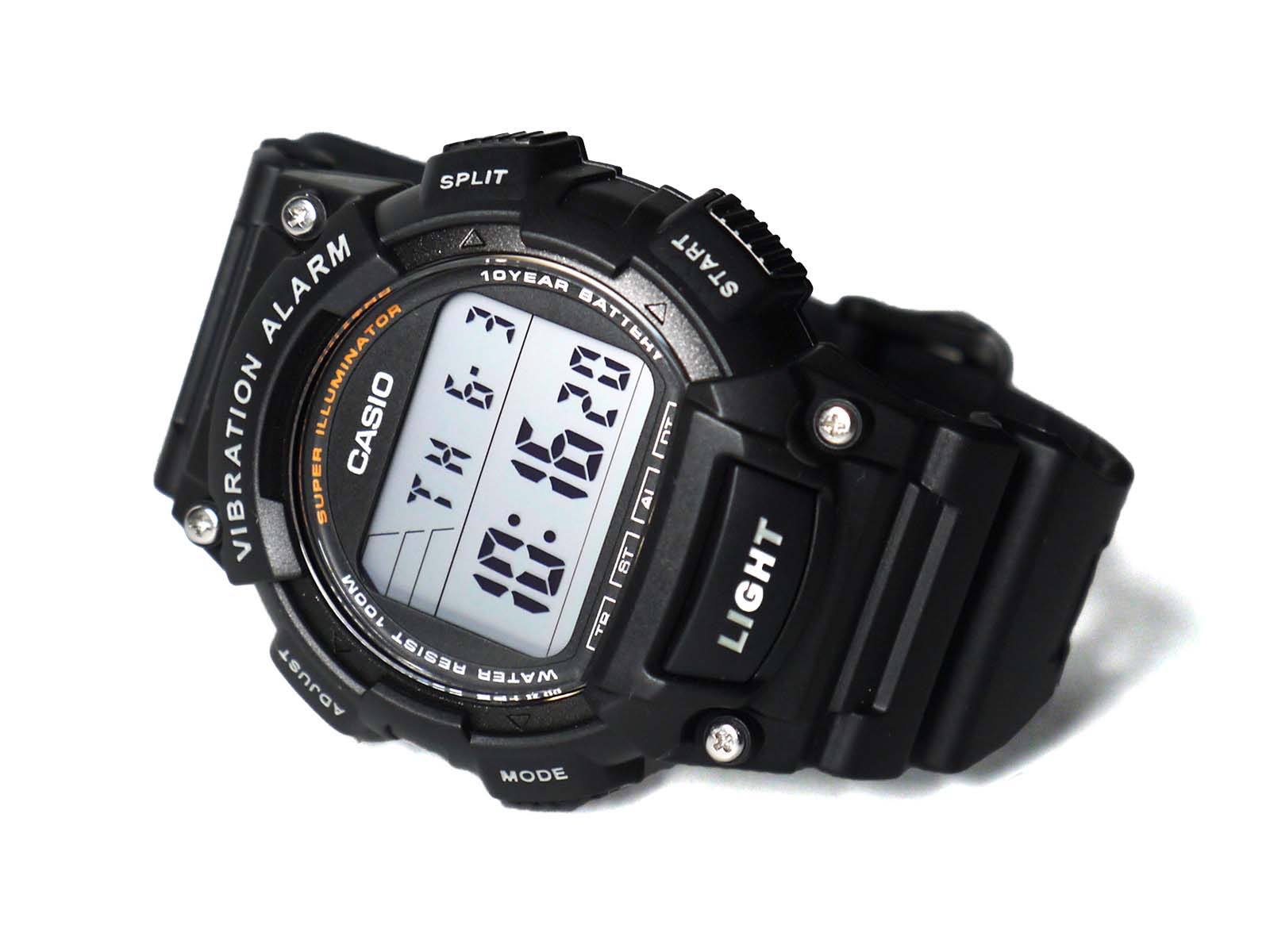 Casio W-736H-1AV vibration alarm watch